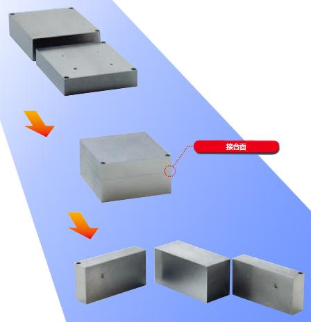 昭和製作所 超音波探傷用内封きず型対比試験片 拡散接合による人工きずの加工例